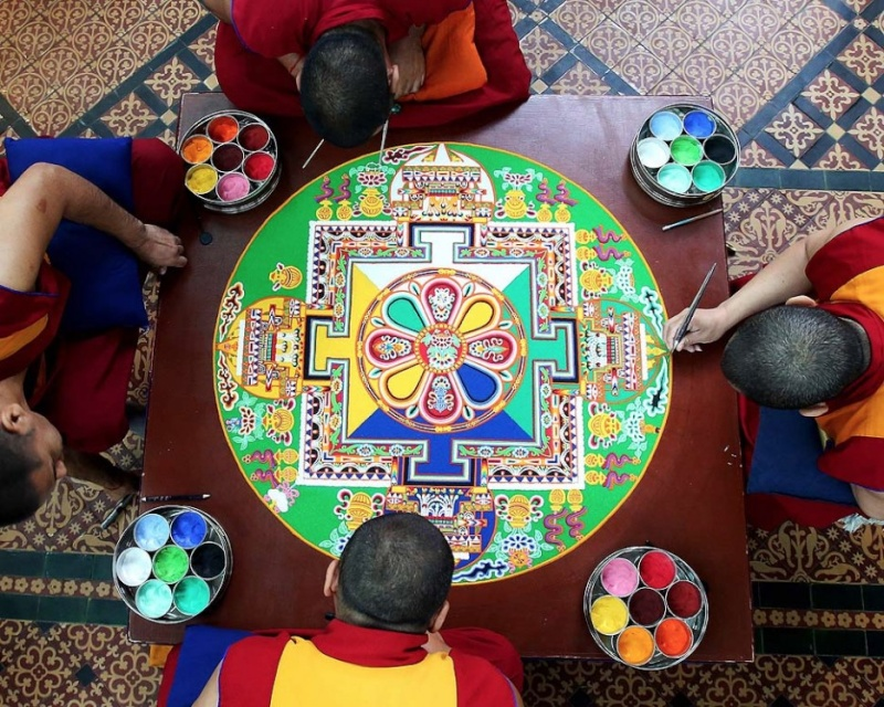 photos de mandalas tibétains, un instant d'émerveillement av 1421
