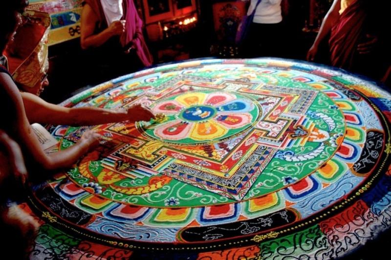 photos de mandalas tibétains, un instant d'émerveillement av 1422