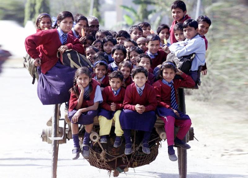Ces enfants qui empruntent les chemins les plus dangereux du 1552