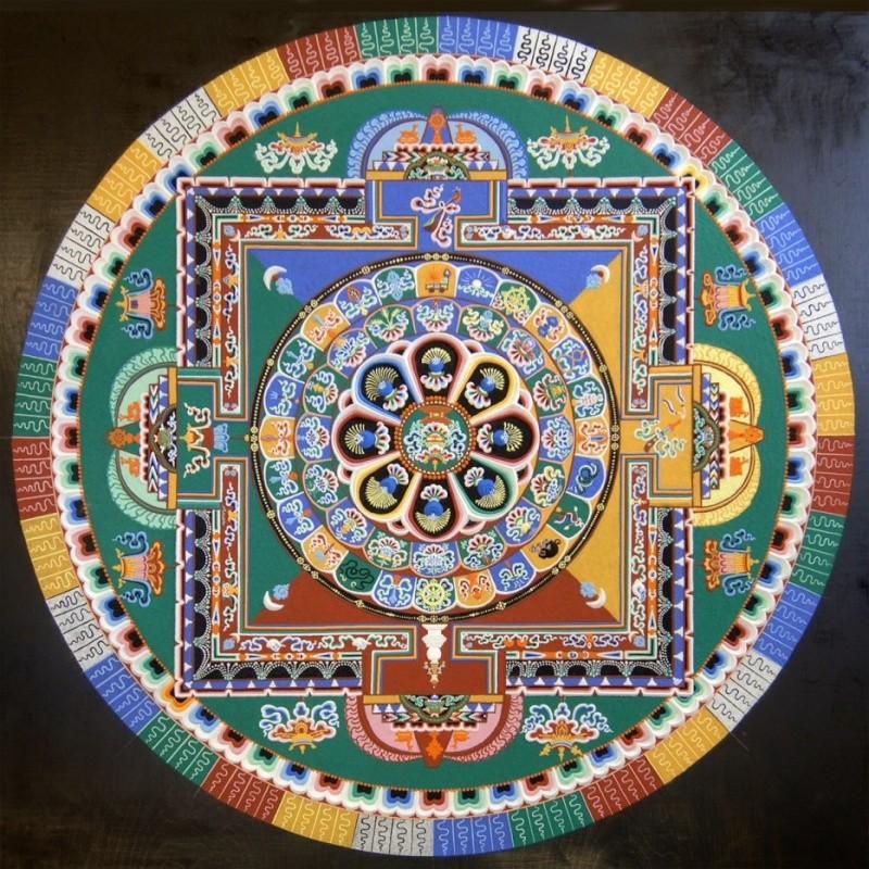 photos de mandalas tibétains, un instant d'émerveillement av 2125