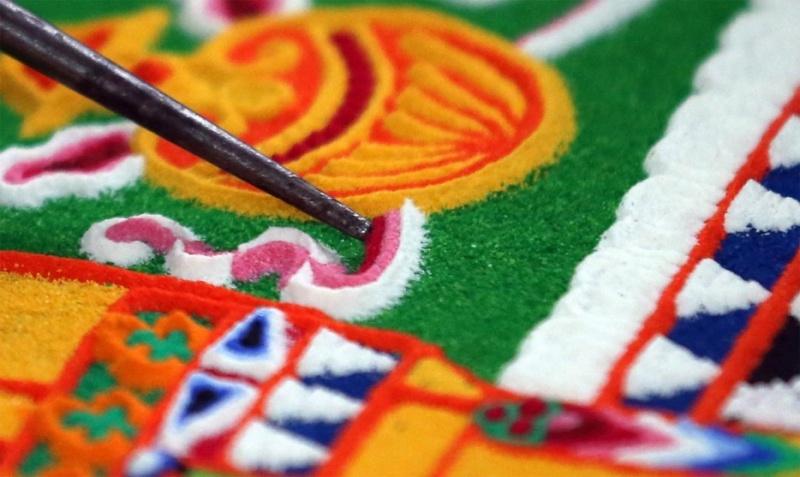 photos de mandalas tibétains, un instant d'émerveillement av 2126