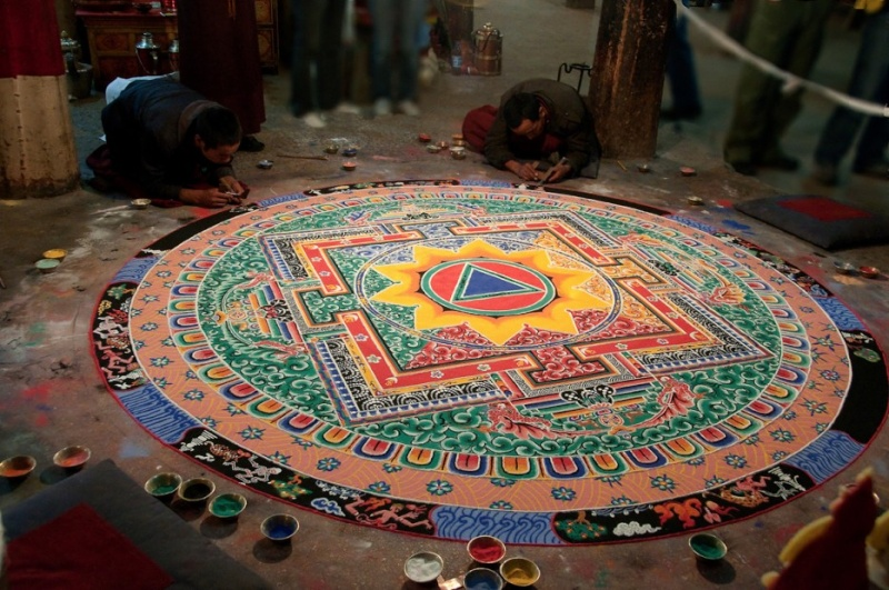 photos de mandalas tibétains, un instant d'émerveillement av 2127
