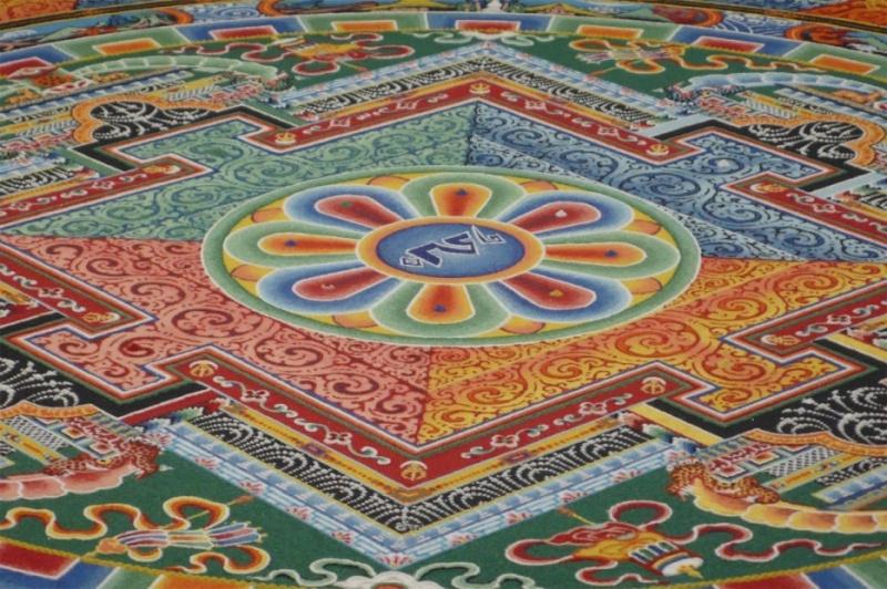 photos de mandalas tibétains, un instant d'émerveillement av 386