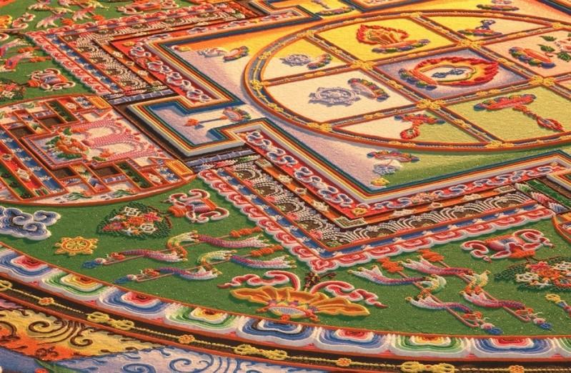 photos de mandalas tibétains, un instant d'émerveillement av 387