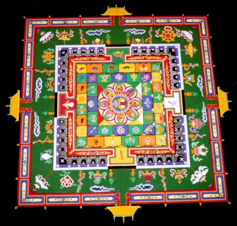 photos de mandalas tibétains, un instant d'émerveillement av 450