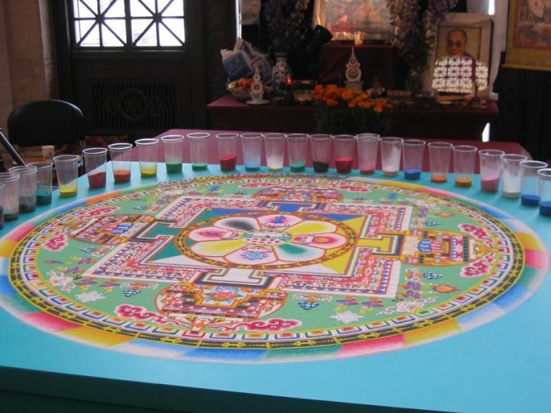 photos de mandalas tibétains, un instant d'émerveillement av 451