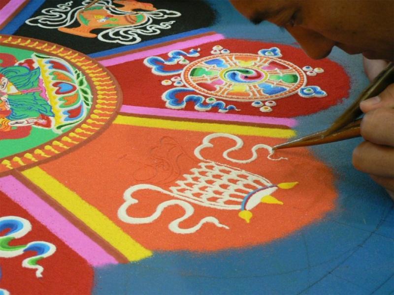 photos de mandalas tibétains, un instant d'émerveillement av 543