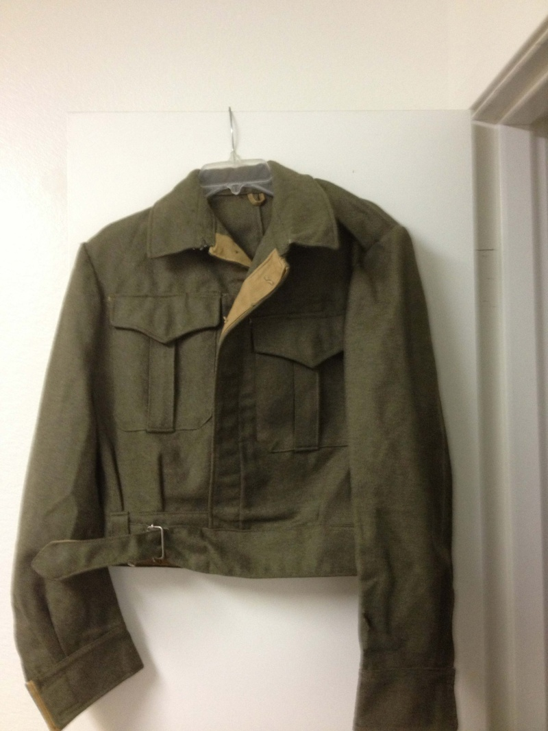 WW2 Type Woolen Battledress Blouses and Trouser,any experts on here please? Greekb11