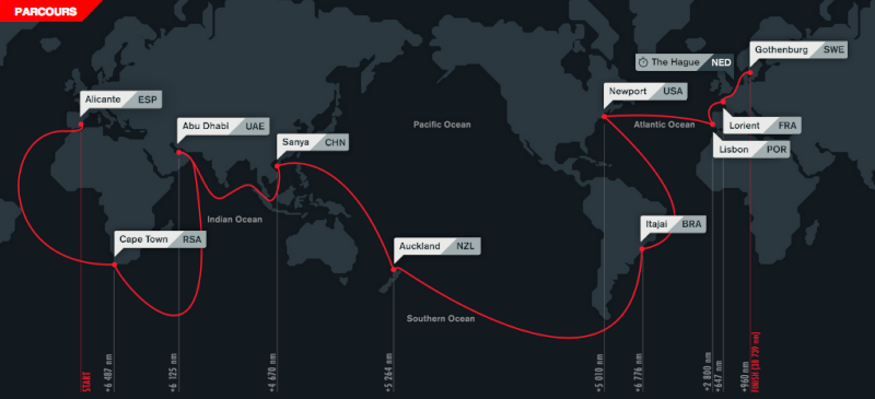 Parcours de l'édition 2014-2015 de la Volvo Race Captur28