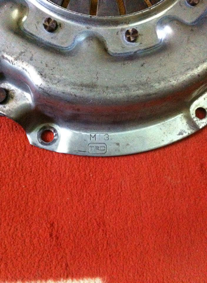 TRD clutch and disc in immaculate condtion, 10396511