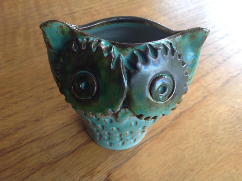 Cog eyed owl vase/moneybox 2014-157