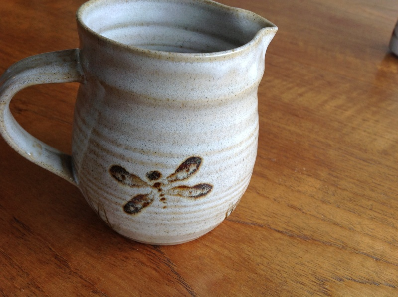 Dragonfly jug - possibly by John Parker, NZ  2014-161