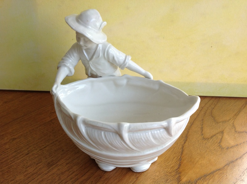 "8"" Figural planter/vase with marks 2014-192"