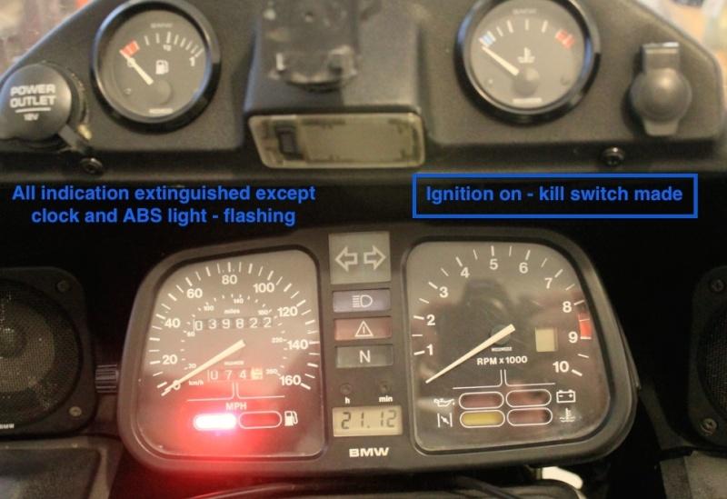 Indicators, lights, horn, brake lights all ok but no dash lights or ignition. Igniti12