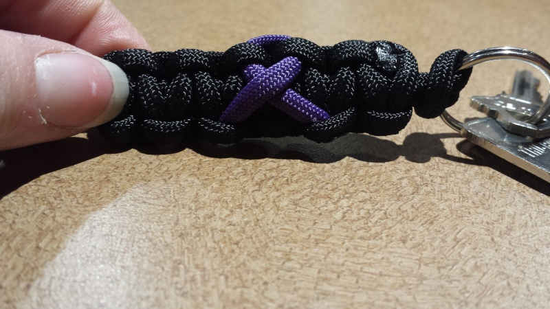 For sale: handmade animal abuse awareness paracord bracelets and key chains 20140517