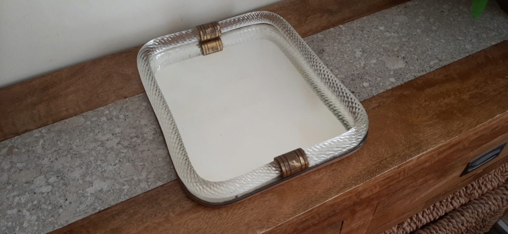 Glass and Mirror Tray - Italy? 20200716