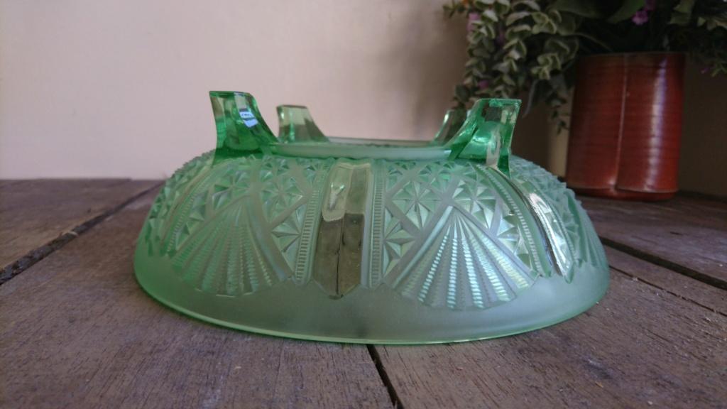 Davidson Green glass bowl-pattern 718 Dsc_0211