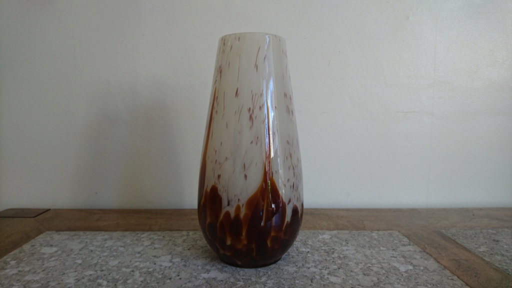Brown Mottled Vase Dsc_1313