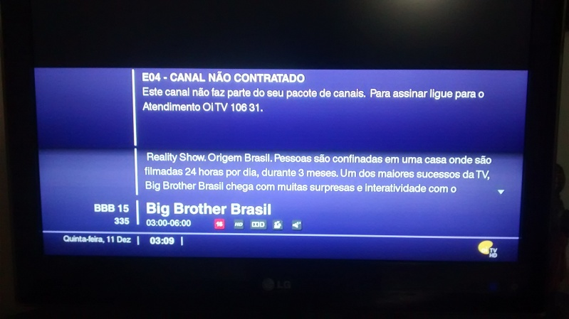 BBB 15 HD no canal 335 To3ruh10