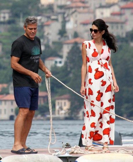 Photos: George Clooney and Amal Alamuddin boating on Lake Como Exc_am10