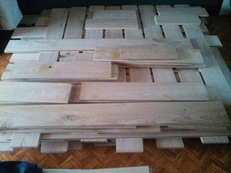 Travaux (TERMINÉS !) : Habillage d'un salon en bois massif Img_2013