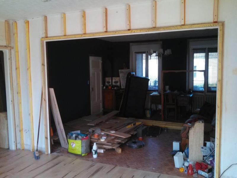 Travaux (TERMINÉS !) : Habillage d'un salon en bois massif Img_2019