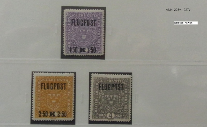 FLUGPOSTMARKEN-AUSGABE 1918  Ank_2212