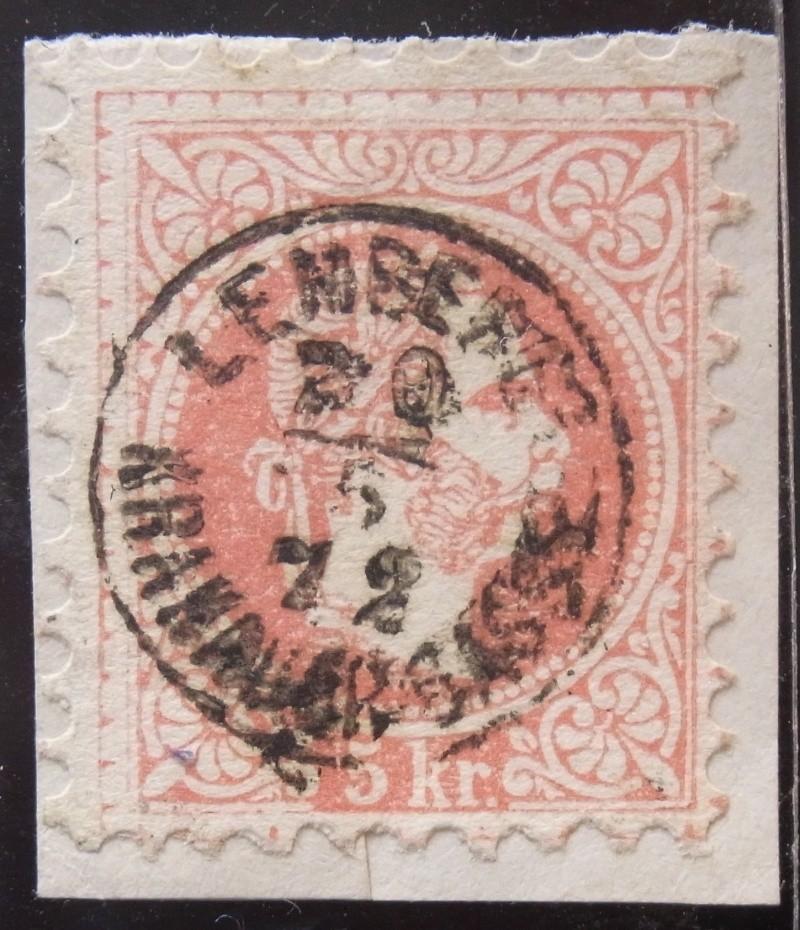 Fingerhutstempel auf Freimarkenausgabe 1867 Ank_3713
