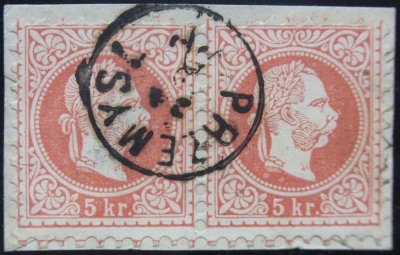 Fingerhutstempel auf Freimarkenausgabe 1867 Ank_3714