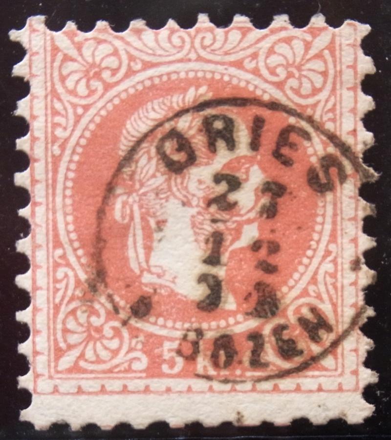 Fingerhutstempel auf Freimarkenausgabe 1867 Ank_3718