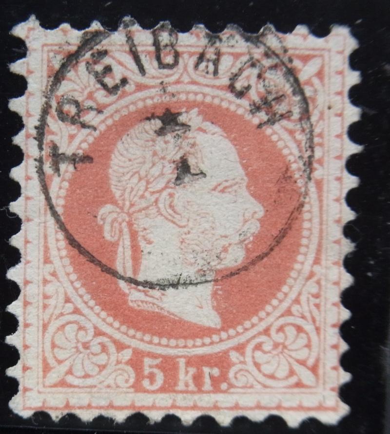 Fingerhutstempel auf Freimarkenausgabe 1867 Ank_3719