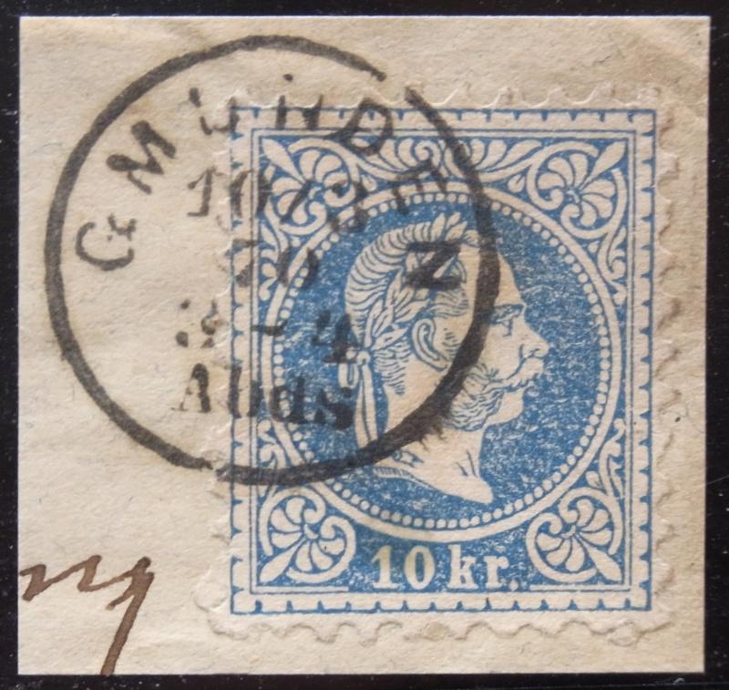 Fingerhutstempel auf Freimarkenausgabe 1867 Ank_3811