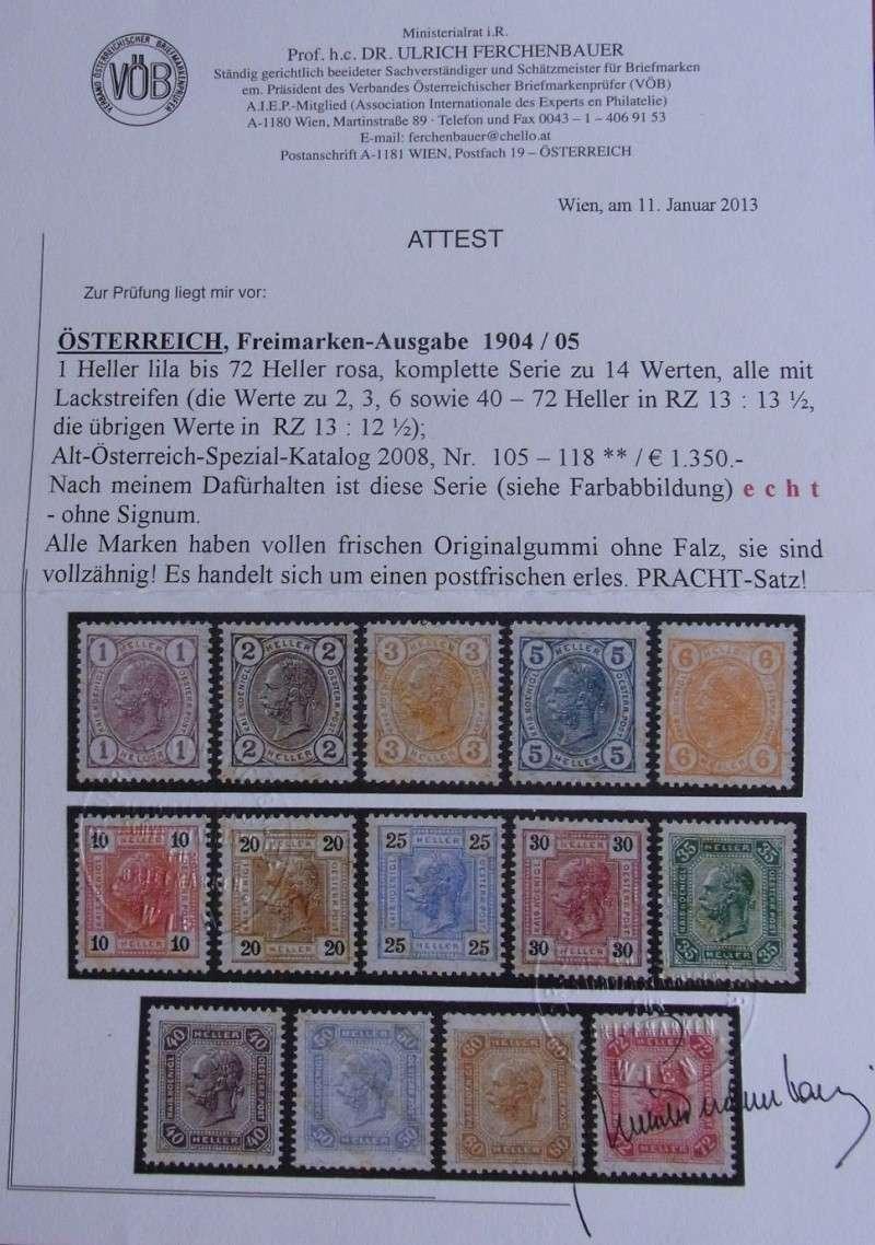 Die Freimarkenausgabe 1904 & 1905 Attest10