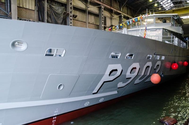 Le nouveau patrouilleur P902 POLLUX prend forme Ap111