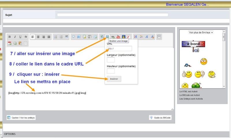 Comment mettre une image sur le forum Insere10