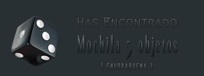Dados de objetos. Mochil10