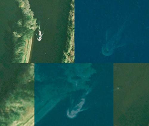 Monstruo del Lago Ness capturado en una imagen por satelite Lago-n10
