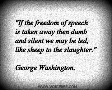 If the freedom of speech is taken away... 1-free10