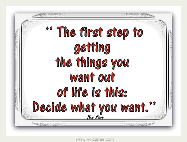 The first step to getting the things that you want... 1-mone11
