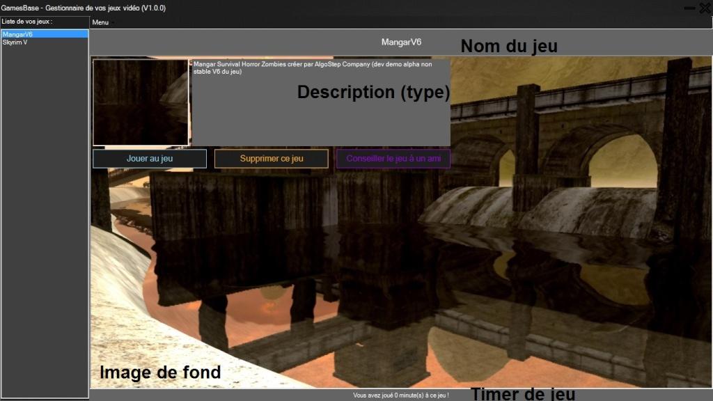 GamesBase (logiciel) - MAJ 14/08/14 [Version 1.0.0] - Demo 0513