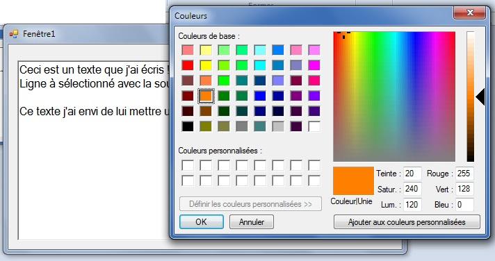 [TUTORIEL] Changer la couleur d'un texte SELECTIONNE dans un RichTextBox sous SZ 2012/2014 1310