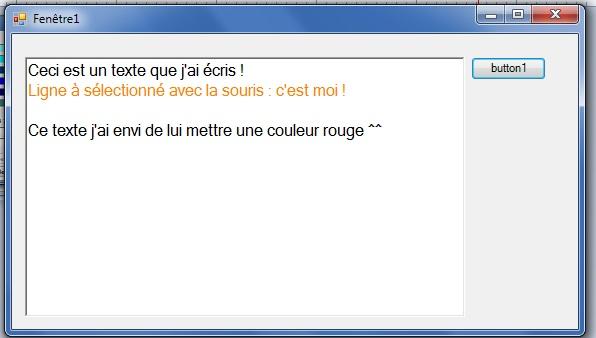 [TUTORIEL] Changer la couleur d'un texte SELECTIONNE dans un RichTextBox sous SZ 2012/2014 1411