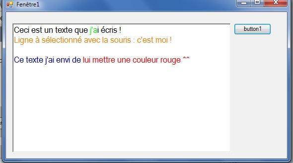 [TUTORIEL] Changer la couleur d'un texte SELECTIONNE dans un RichTextBox sous SZ 2012/2014 1510