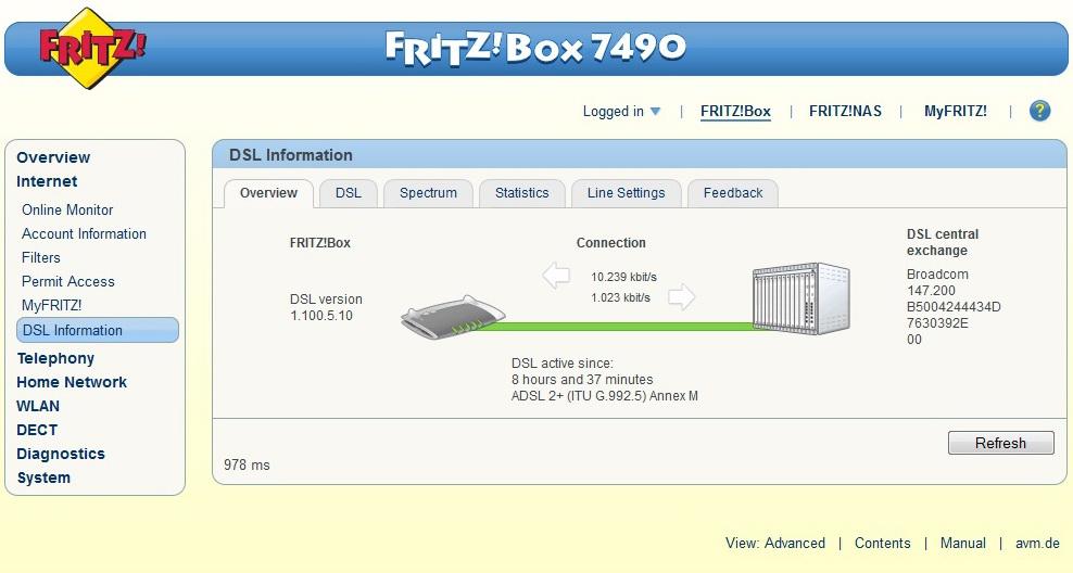 FRITZ!Box 7490 e OS FRITZ! 6.20  7490_210