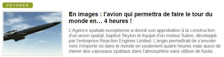 News Aéronautique A10