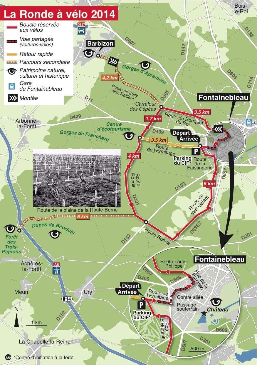 la ronde à vélo, Fontainebleau 12 Octobre 2014 Cg77-r10
