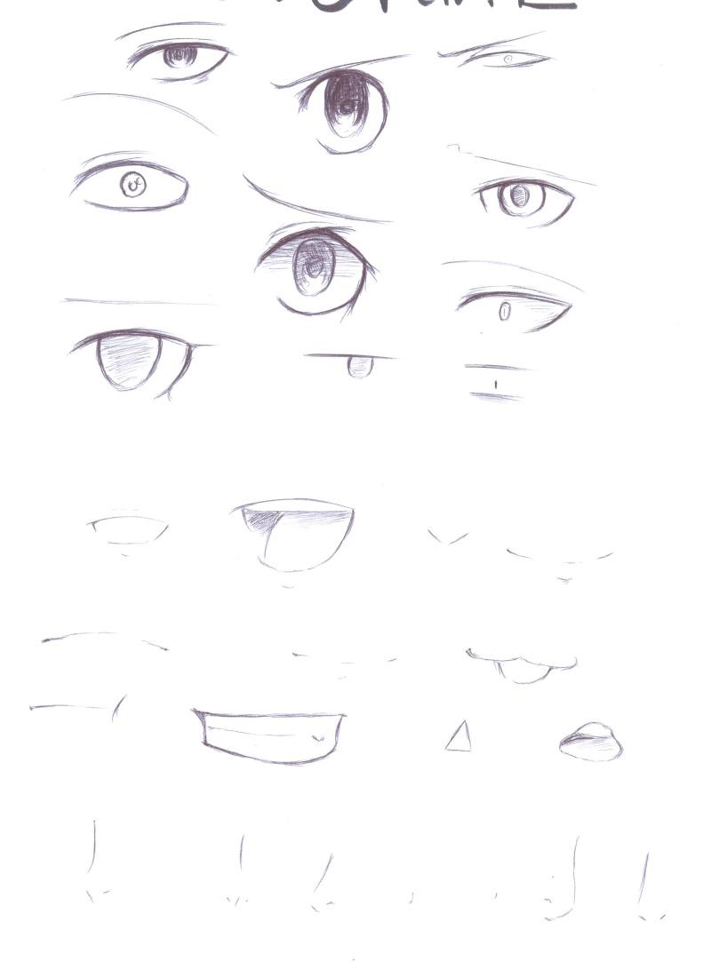 [Aide] Modèles pour les yeux,nez,... Manga_21