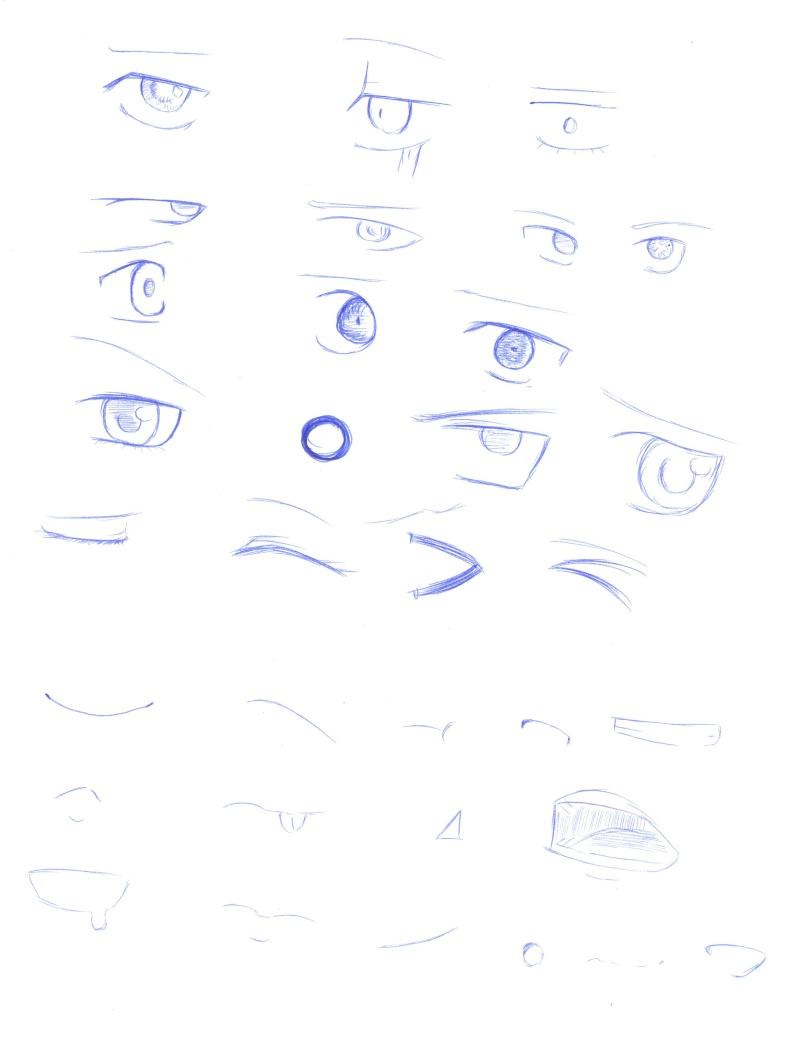 [Aide] Modèles pour les yeux,nez,... Manga_22