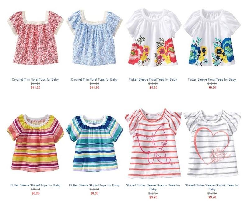 Летняя детская одежда Old Navy: платья, майки, шорты, купальники, сланцы... - 25% и экстра 15%.  Ddnddn23