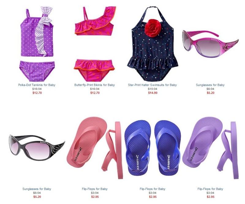 Летняя детская одежда Old Navy: платья, майки, шорты, купальники, сланцы... - 25% и экстра 15%.  Ddnddn24